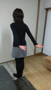 振り袖を細くする体操