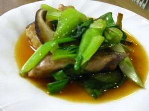 ブリと青梗菜のオイスターソース