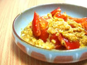 トマトと卵の中華風炒め
