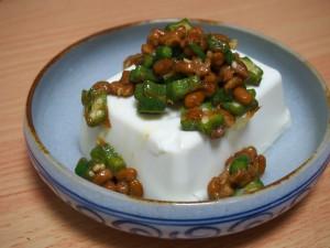 ねばねば豆腐サラダ